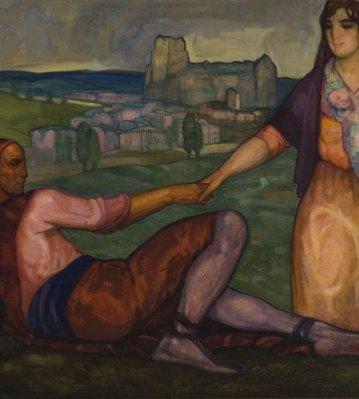 Los novios de Vozmediano. ID 008. Corpus Online Museo Gustavo de Maeztu