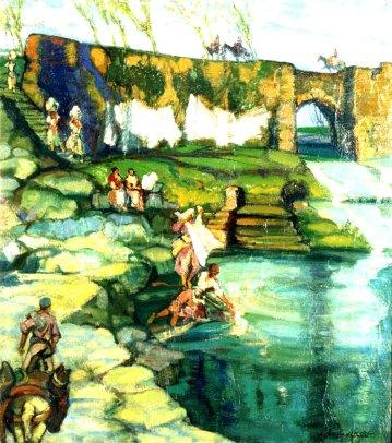 Puente de San Juan Estella. ID 087. Corpus Online Museo Gustavo de Maeztu