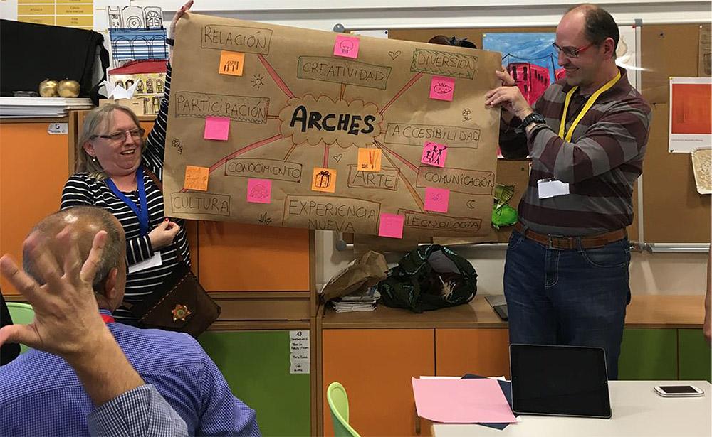Imágenes de la investigación participativa del proyecto ARCHES