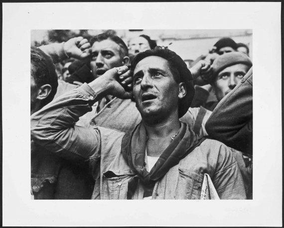 Despedida de las Brigadas Internacionales. Montblanch, cerca de Barcelona, 25 octubre 1938