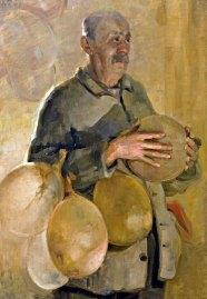 Luigi Varoli - Il padre con le vesciche per lo strutto 1927 olio su tela, cm 99x70