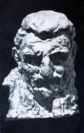 Luigi Varoli - Ritratto di Roberto Pollastri, 1930, gesso, alt cm 37