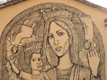 """Collettivo FX, """"S.S. Madre Incoronata del Risveglio"""", Barbiano, 2017"""