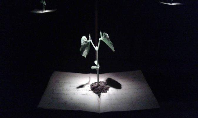 Bambini, azione di teatro pittura e luce con Elena Bucci, Claudio Ballestracci e Davide Reviati
