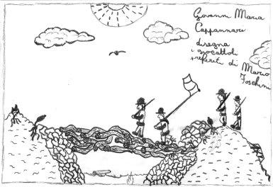 2014, Disegno dei bambini della Scuola Arti e Mestieri per E' val