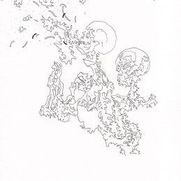 n.86 Barbara Fragogna Detail (Selfie), 2020, inchiostro su carta 200 gr, 30x21 cm
