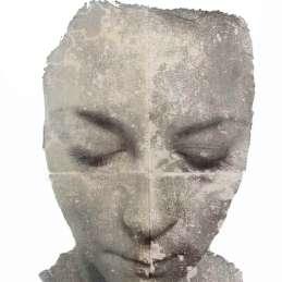 n.32 Olivia Marani T r a n s f e r (t), 2012, transfert, matita e oli su carta montata su multistrato, cm 65,5X49,50