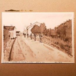 n.119 Marco Nascosi 10 aprile 1945 21x15, acquerello su carta