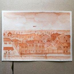 n.120 Marco Nascosi 10 aprile 1945 21x15, acquerello su carta