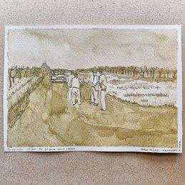 n.121 Marco Nascosi 10 aprile 1945 21x15, acquerello su carta