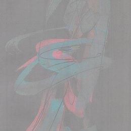 n.37 Ettore Pinelli Senza titolo (astrazione figurativista ver. grigia nº 1), 2020, tecnica mista su carta, 30x21cm