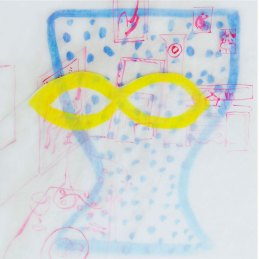 n.43 Martina Roberts Nella stanza di Matisse, 2012, acquerello su carta, 19x19 cm