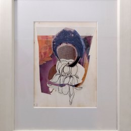 n.46 Silvia Vendramel Ritratto, 2012, collage, cm 22x30