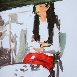 n.132 Stefano W Pasquini, UP2001, 2020, acrilico su tela non intelaiata, cm. 41,5 x 29,5,
