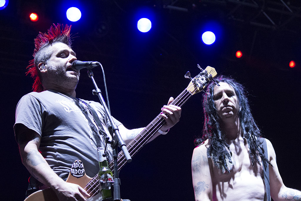 Fat Mike and Eric Melvin of NOFX