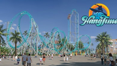 Knott's Berry Farm HangTime Day Time Rendering With Logo