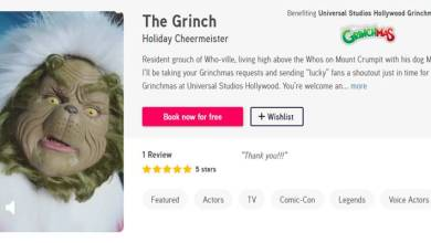 Photo of The Grinch Can Now Send You A Holiday Message with Universal Studios Hollywood and Cameo Collaboration