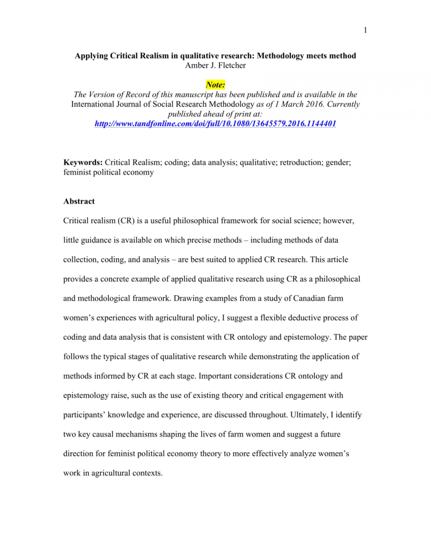 Method research paper example write computer science literature review