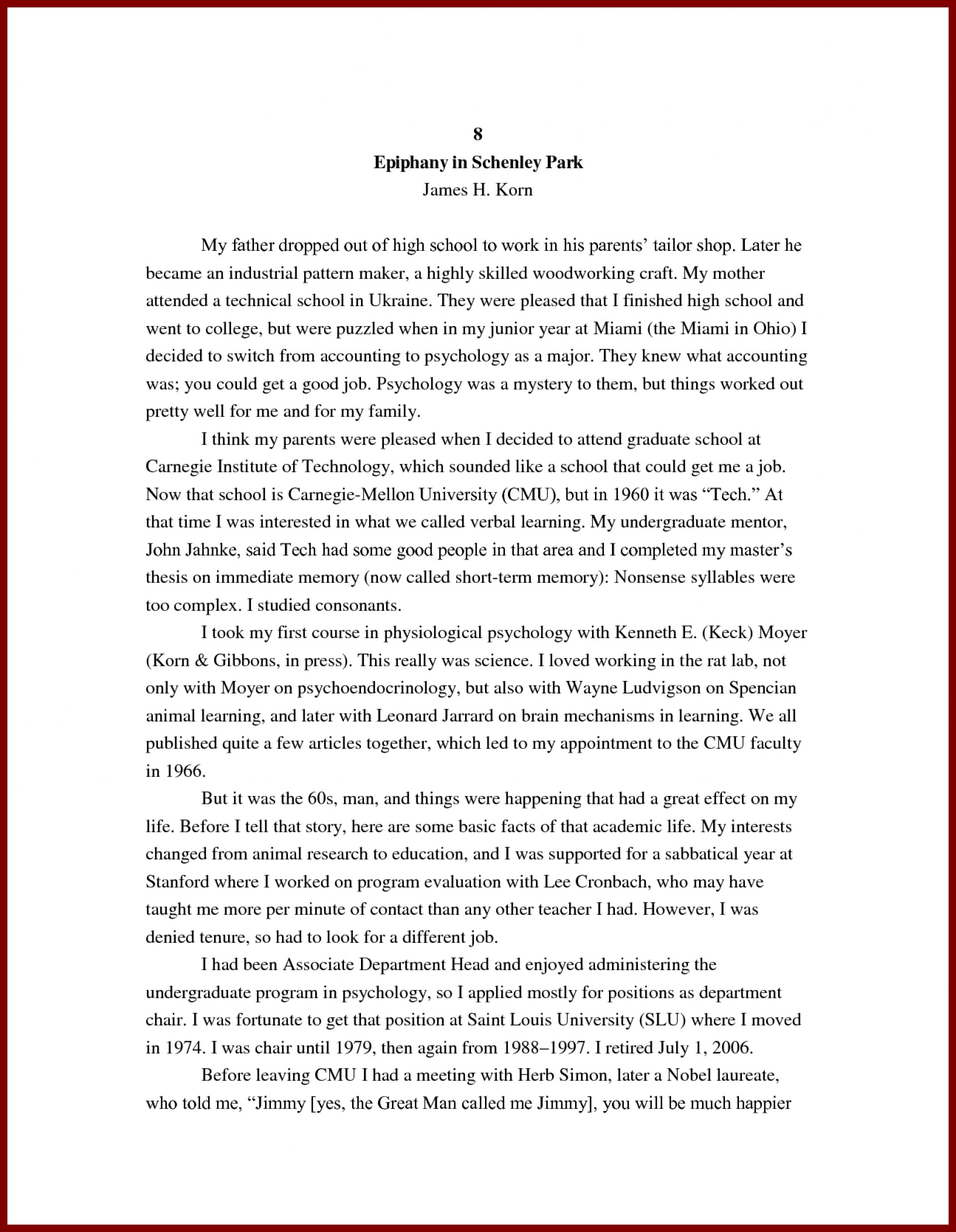 008 Research Paper Student Biographical Example Sample