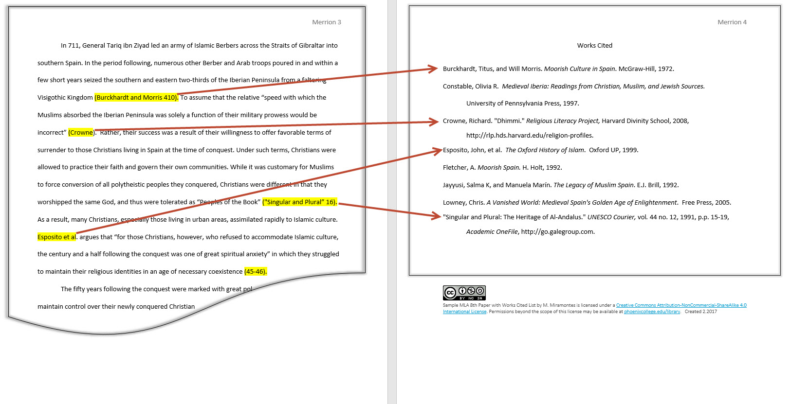 008 Example Works Cited Research Paper Mla In Text
