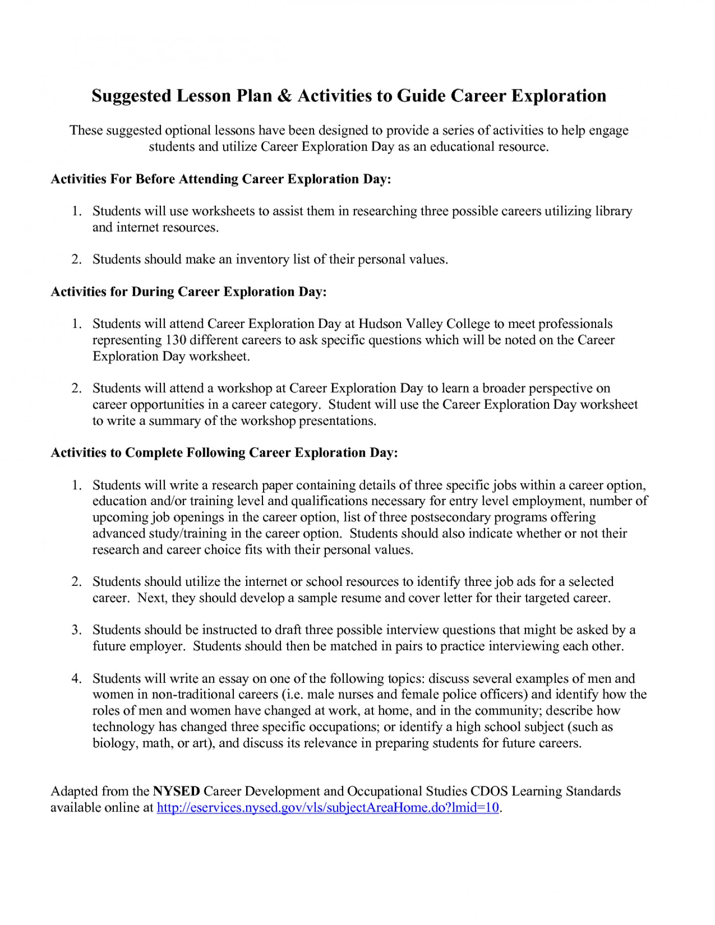 017 Career Exploration Research Paper Example Year Plan