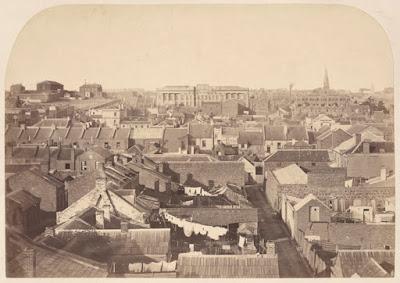 Inner city Melbourne, circa 1860.