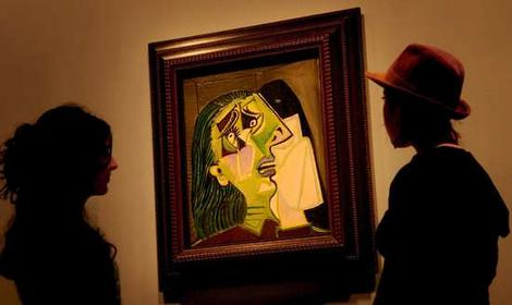'The Weeping Woman' by Picasso, on display at the NGV