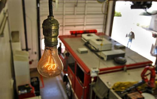 The Centennial Light in the fire station
