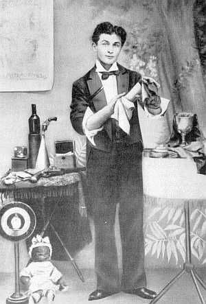 Young Houdini; stage magician