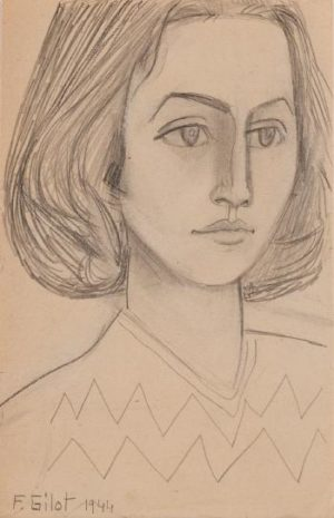 'The Green Eyes', an early work by Francoise Gilot
