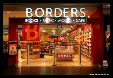 Former entrance to Melbourne's 'Borders' store, which closed in 2010