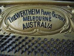 Wertheim piano, Melbourne