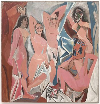 Damoiselles d'Avignon, 1907, from Picasso's African period.