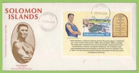 Alick Wickham, commemorative postcard.
