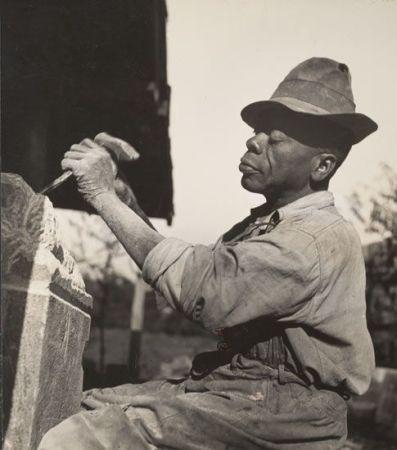 William Edmondson at work