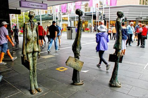 Public art on Swanston Street