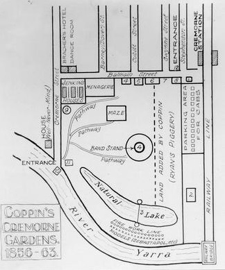 Map of the Cremorne Gardens