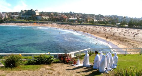 A small shrine at the Virgin Mary site, Coogee Beach, present day