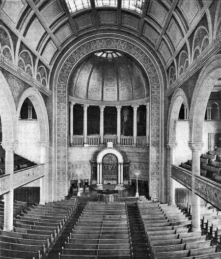 Temple Beth-El, New York, interior
