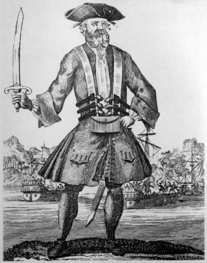 Blackbeard, a real pirate of the Caribbean
