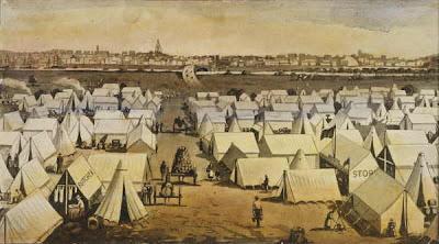'Canvas Town', Melbourne, 1850s