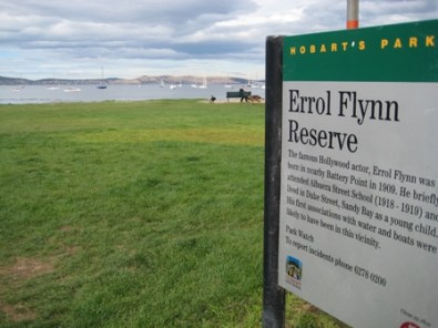 The Errol Flynn Reserve, Sandy bay, Hobart