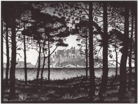 An early landscape drawing by M.C.Escher