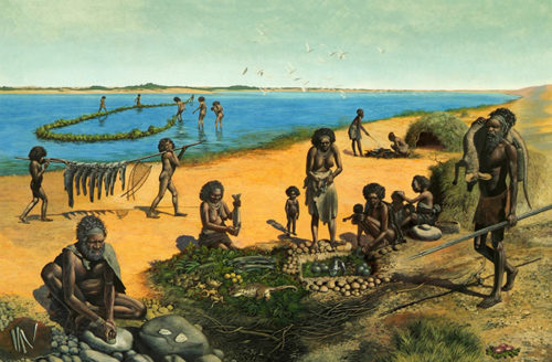 An artists impression of Lake Mungo, 42 000 years ago