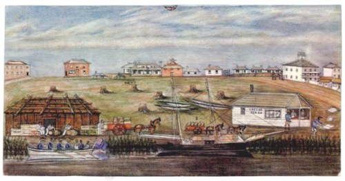 'Landing at Melbourne', by Wilbraham Liardet.