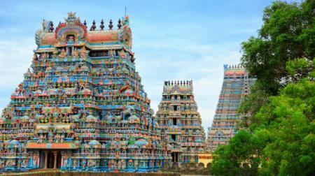 Meenakshi Temple towers