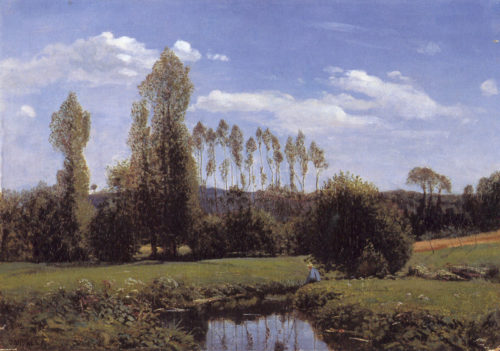 'View at Rouelles, Le Havre', painted by Monet