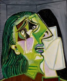 'The Weeping Woman', by Picasso. NGV collection, Melbourne.