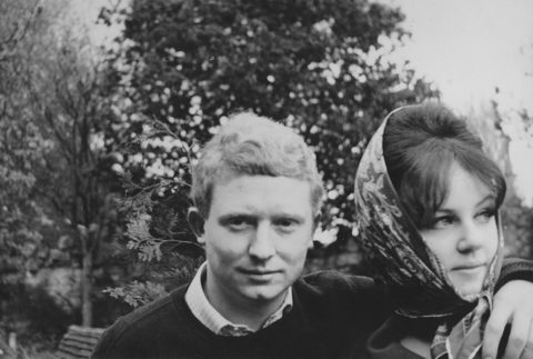 Brett and Wendy Whiteley as a young couple.