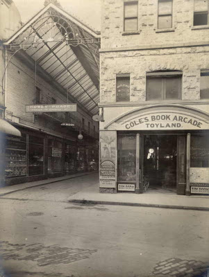 Cole's Book Arcade, toy store and glass roofed arcade